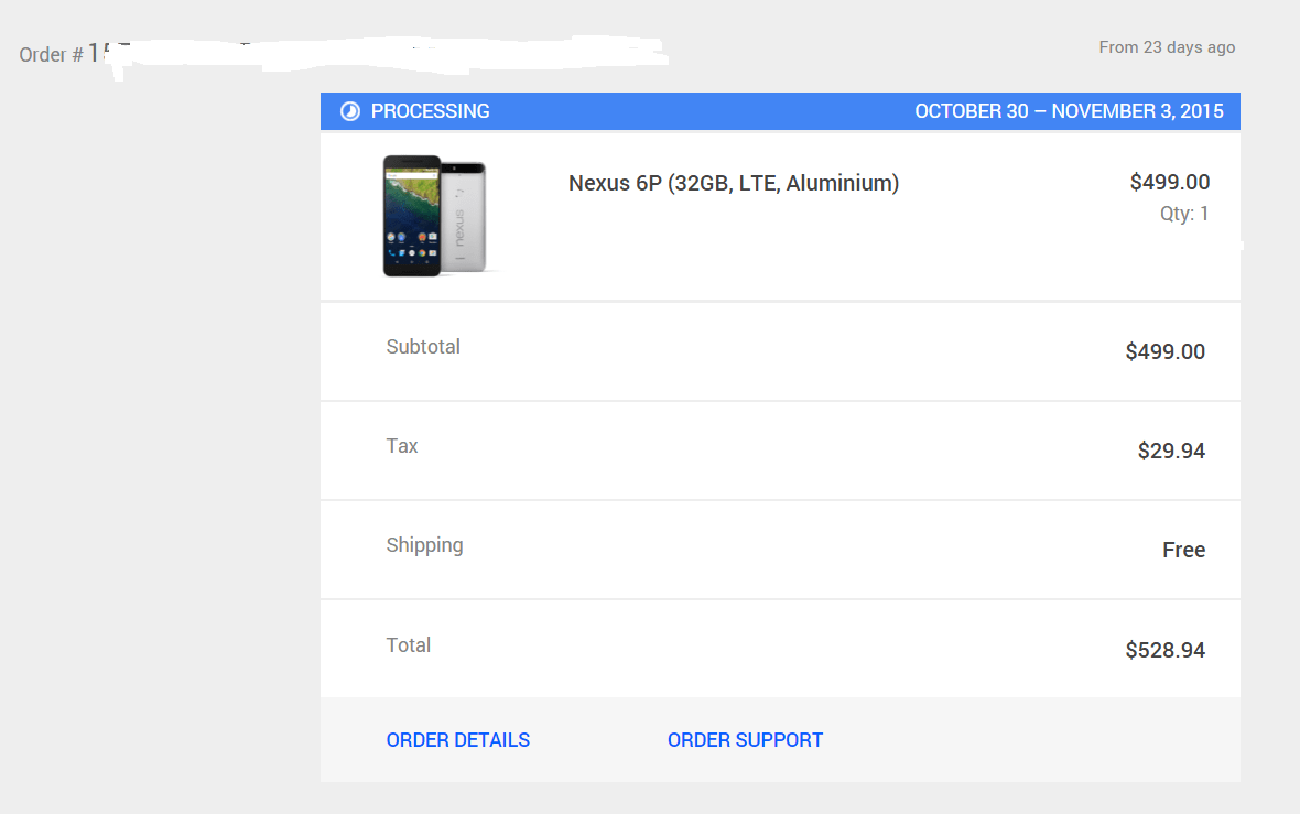 First batch of Nexus 6P pre-orders shipping tomorrow?