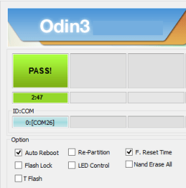 Odin 3.09 Pass Message