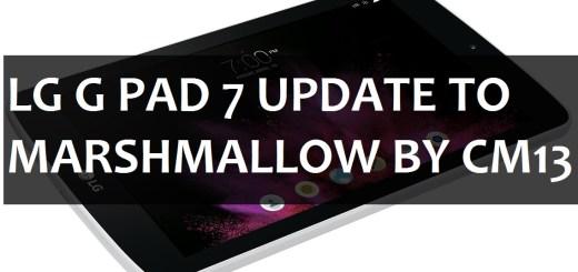 Marshmallow on LG G PAD 7 LTE V410