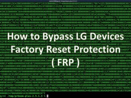 bypass factory reset protection on lg