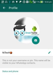 Set Full WhatsApp Profile Pic without Cropping