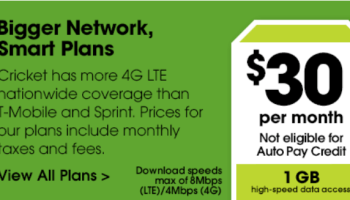 The Cricket Wireless $50 plan now includes more data than before