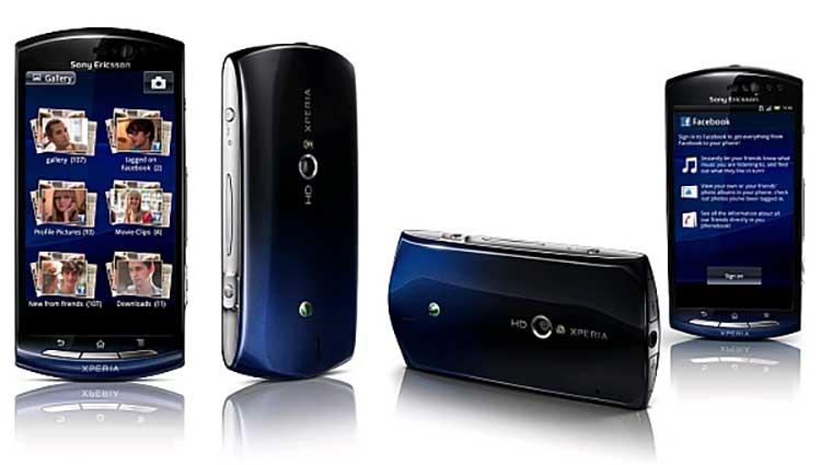 Sony Xperia Neo - Sony Xperia Schwarz in verschiedenen Winkeln - Droidenansichten