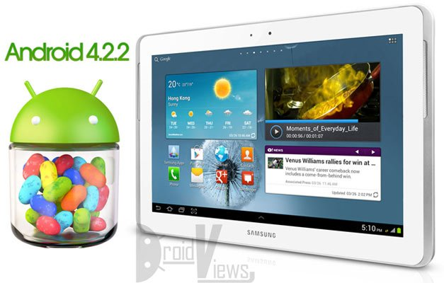 Galaxy Tab 2 10.1 GT-P5100 Gets Android 4.2.2 Jelly Bean Update