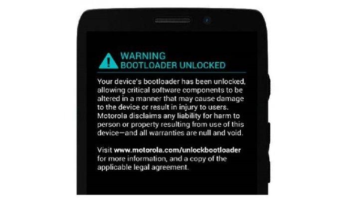 Unlocked Warnung auf Moto Maxx