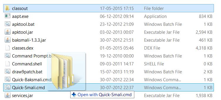 Smali Classout JAR-Datei