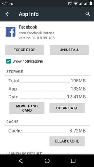 App-Daten löschen Android