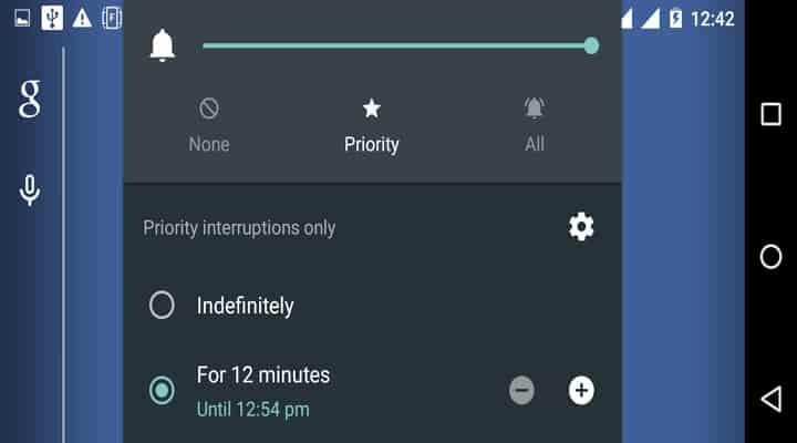 Prioritätsmodus unter Android