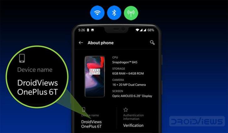 Ändern Sie den Namen des Android-Geräts