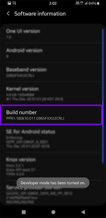 Android-Entwickleroptionen aktiviert
