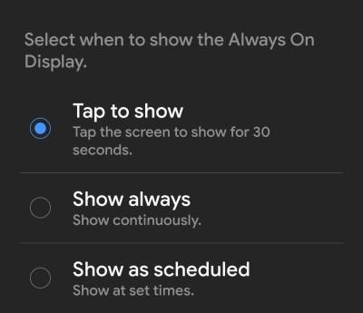 Samsung One UI Features AOD