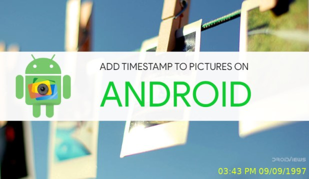 How to Add Timestamp to Pictures on Android