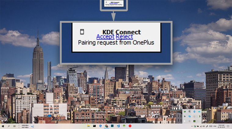 KDE Connect Windows Notification