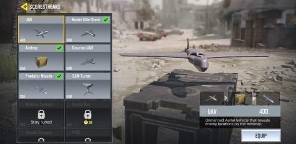 Call of Duty Configuration of ScorestReaks