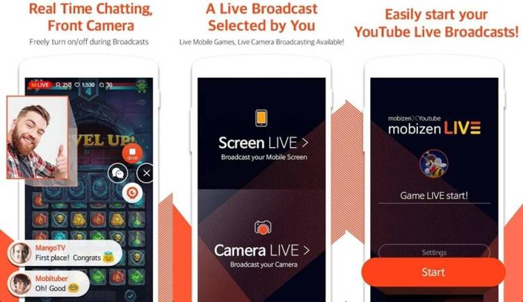 Mobizen streaming Android application