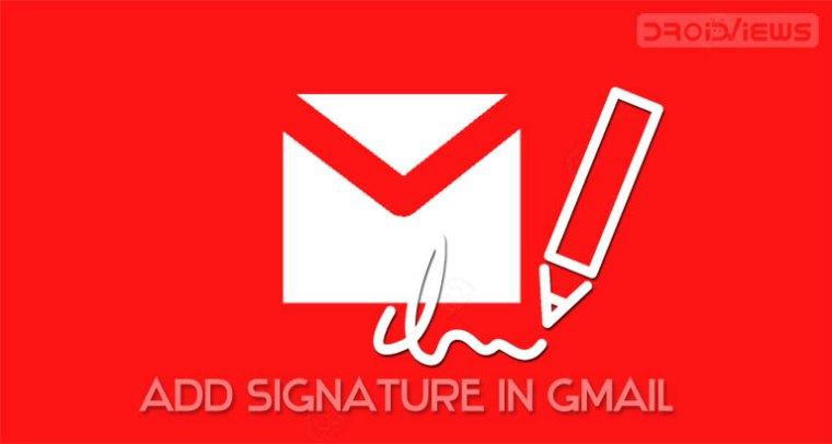 Signatur in Google Mail hinzufügen