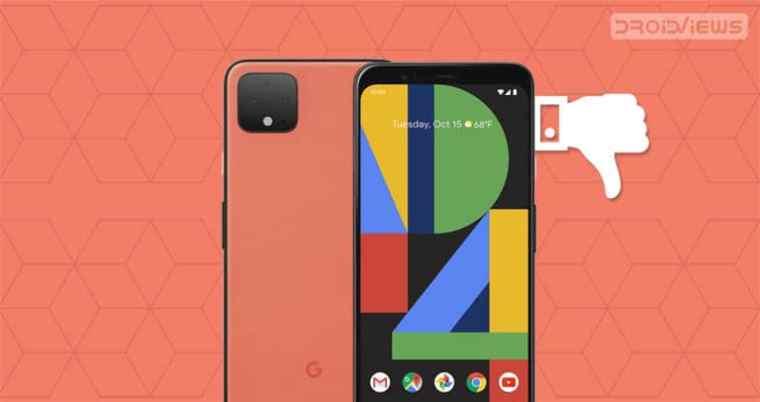 Google Pixel 4 Daumen nach unten
