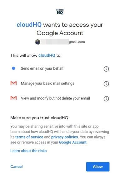 Berechtigungen für mehrere E-Mails