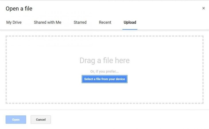 Office-Datei hochladen