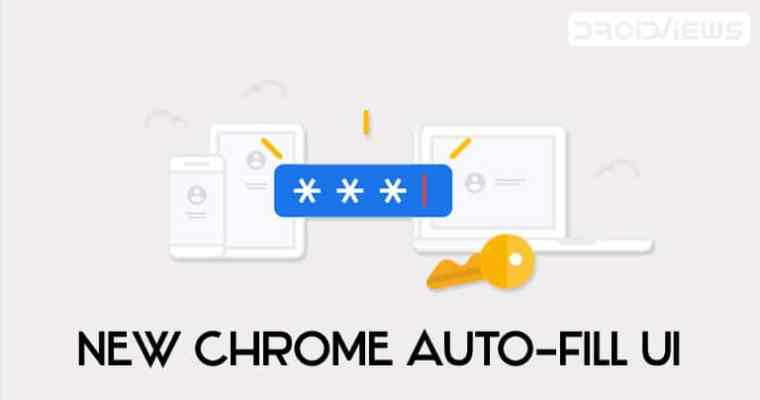 Chrom Auto-Fill UI