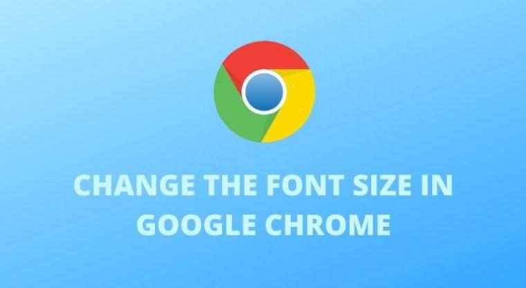 Schriftgröße im Google Chrome-Cover