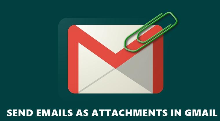 Anhängen von E-Mails in Google Mail