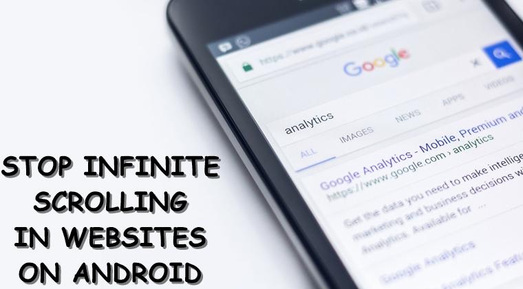 Stoppen Sie unendliche Schriftrolle Android