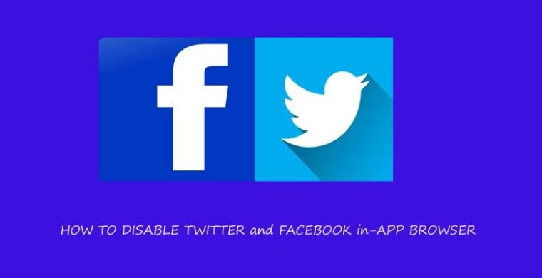 Facebook Twitter App Browser deaktivieren Anleitung