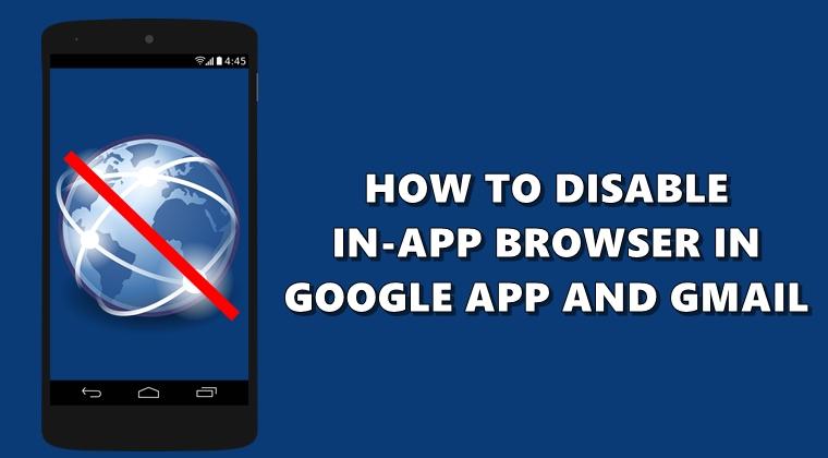 Deaktivieren Sie den In-App-Browser