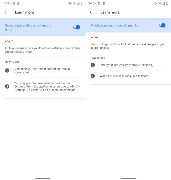 Funktionen von Google Labs