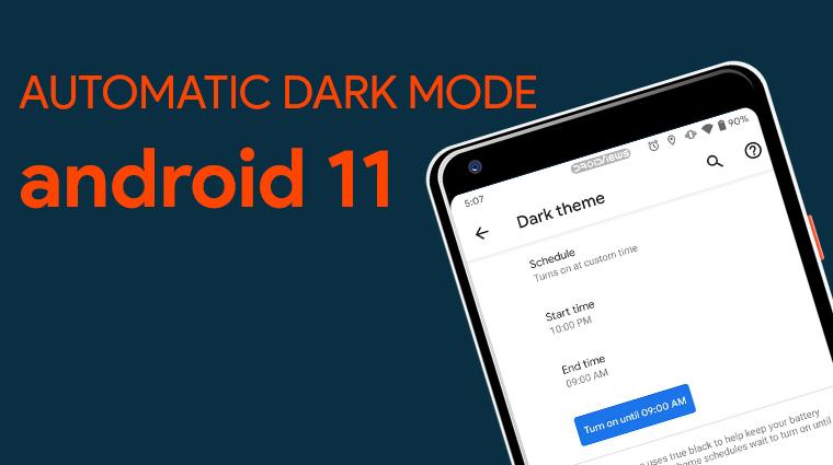 Android 11 bietet eine automatische Planung für den Dunkelmodus