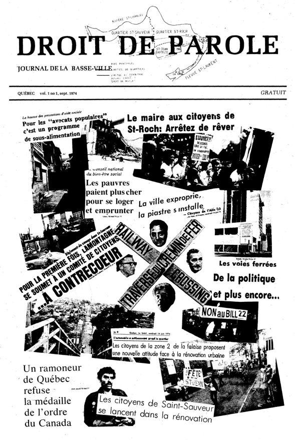 Première parution du journal, en septembre 1974.