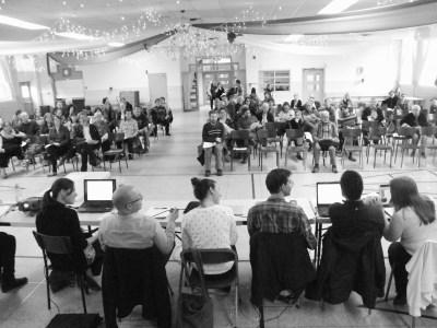 Assemblée de consultation citoyenne sur une Maison de la culture dans Saint-Sauveur Photo: Ronald Lachapelle