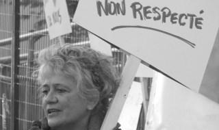 Danielle Papillon, une des citoyennes engagées dans la défense du Centre Durocher. Photo: Pierre Mouterde