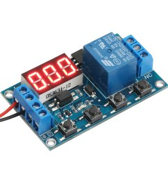 relay module 6 30v multifunction 1 channel relay delay off on off trigger delay cycle timing circuit switch dc 12v  [ 1500 x 1500 Pixel ]