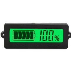 digital tester dc 12v 24v 36v 48v battery capacity monitor meter waterproof lcd green backlight indicator  [ 1500 x 1500 Pixel ]