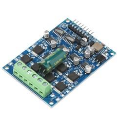 dc brush motor controller 16a power supply module dual way motor drive module forward reverse pwm  [ 1500 x 1500 Pixel ]