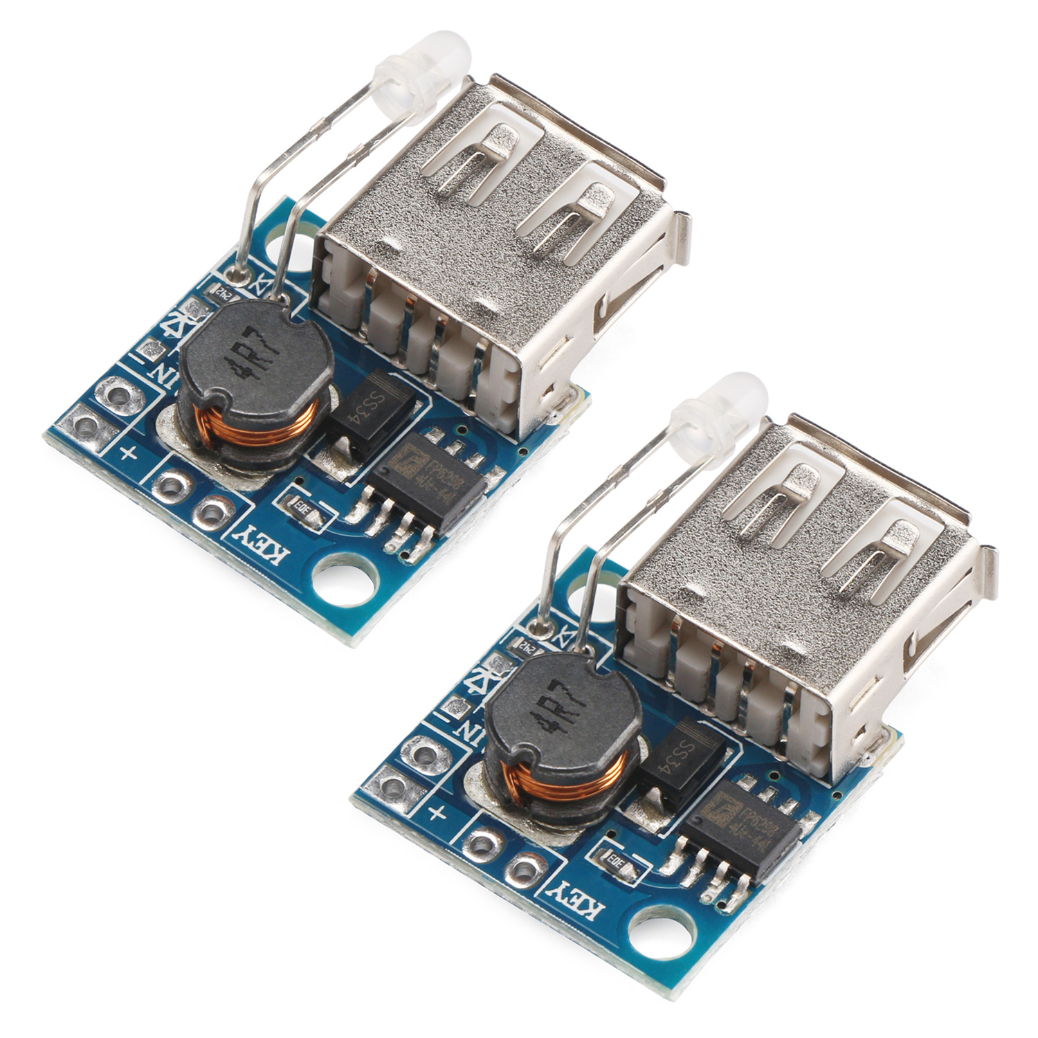 hight resolution of usb mobile power supply board 2pcs mini dc dc step up converter 3v to 5v 2a