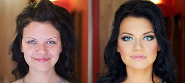58 With and Without Makeup Pictures of Girls That Will Shock You - 03