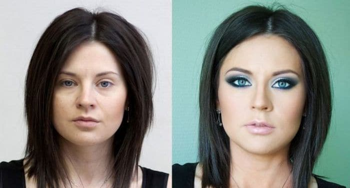 58 With and Without Makeup Pictures of Girls That Will Shock You - 09
