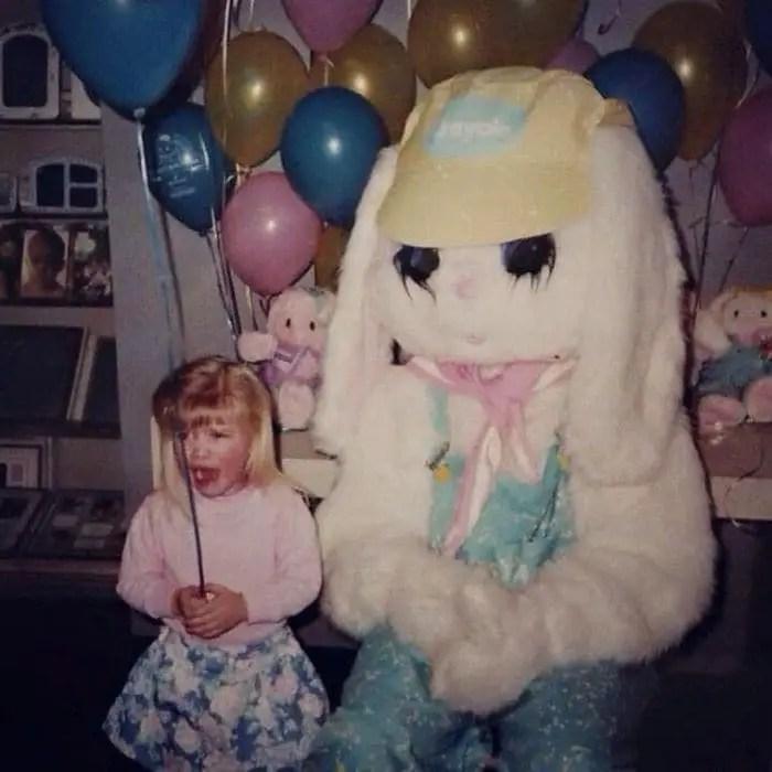 20 Creepy Vintage Easter Bunny Pics Guaranteed To Make You Say WTF -09