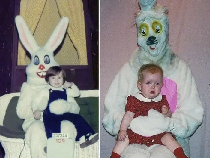 20 Creepy Vintage Easter Bunny Pics Guaranteed To Make You Say WTF -11