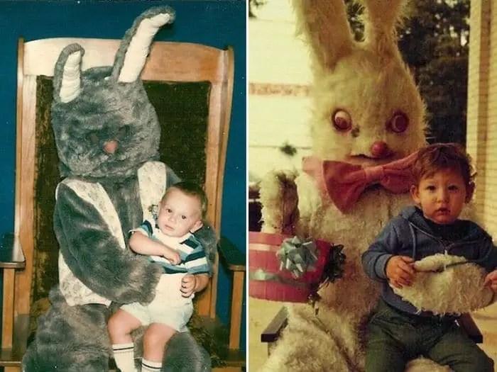 20 Creepy Vintage Easter Bunny Pics Guaranteed To Make You Say WTF -13