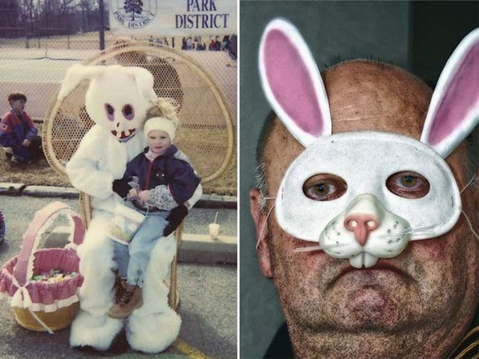 20 Creepy Vintage Easter Bunny Pics Guaranteed To Make You Say WTF -16