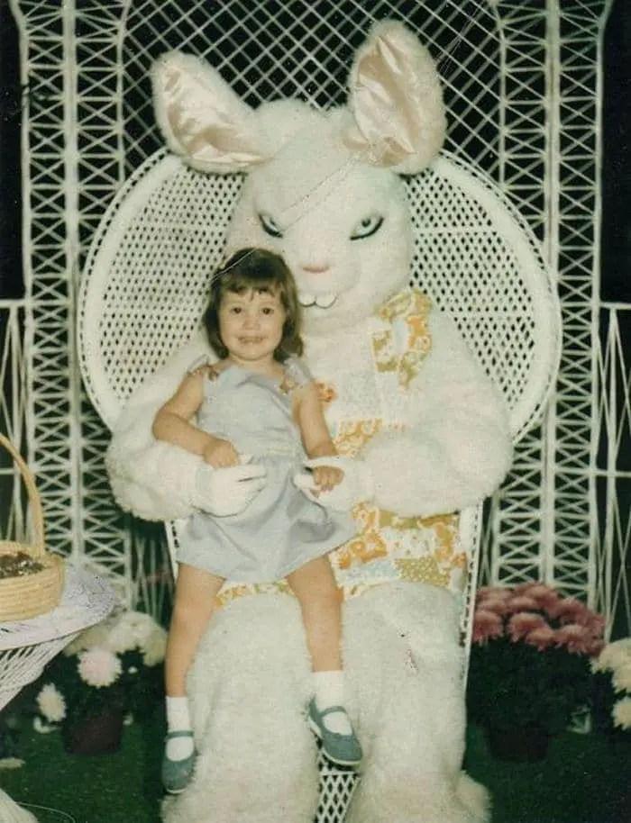 20 Creepy Vintage Easter Bunny Pics Guaranteed To Make You Say WTF -17