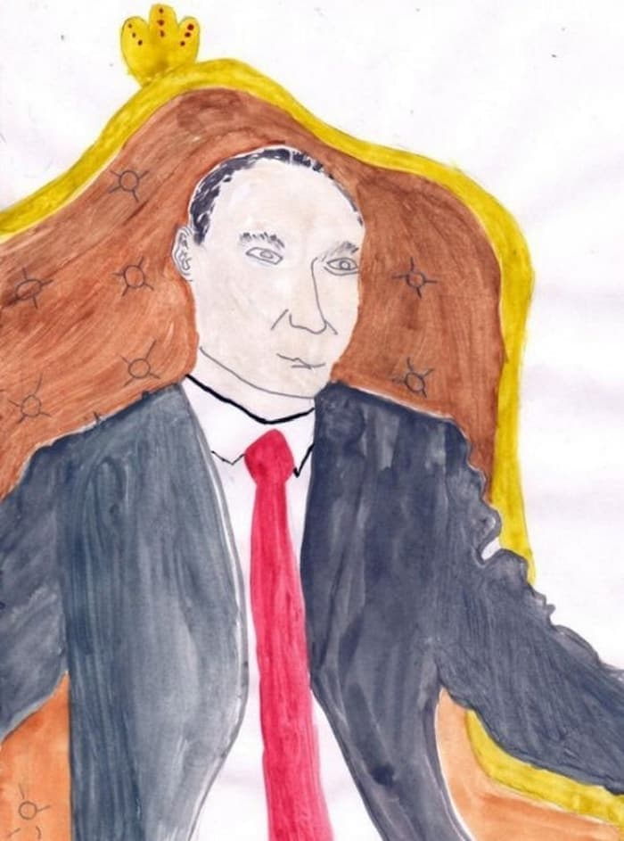 27 Funny Drawings of Putin By Russian Kids Will Make You LOL -16