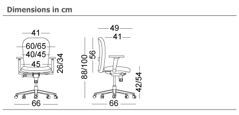 zeta desk chair cantilever dining dromeas working chairs