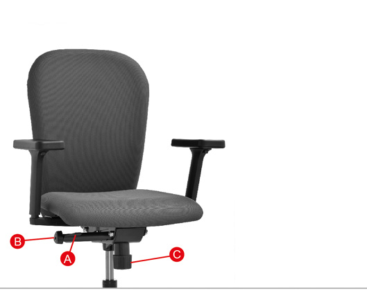 zeta desk chair lawn cushion dromeas working chairs seat height adjustment for of the find flaps on handle a underneath right side