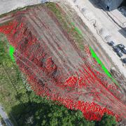 Cubature et calcul topographique par drone