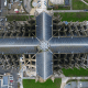 Cathédrale d'Orléans vue du ciel par drone